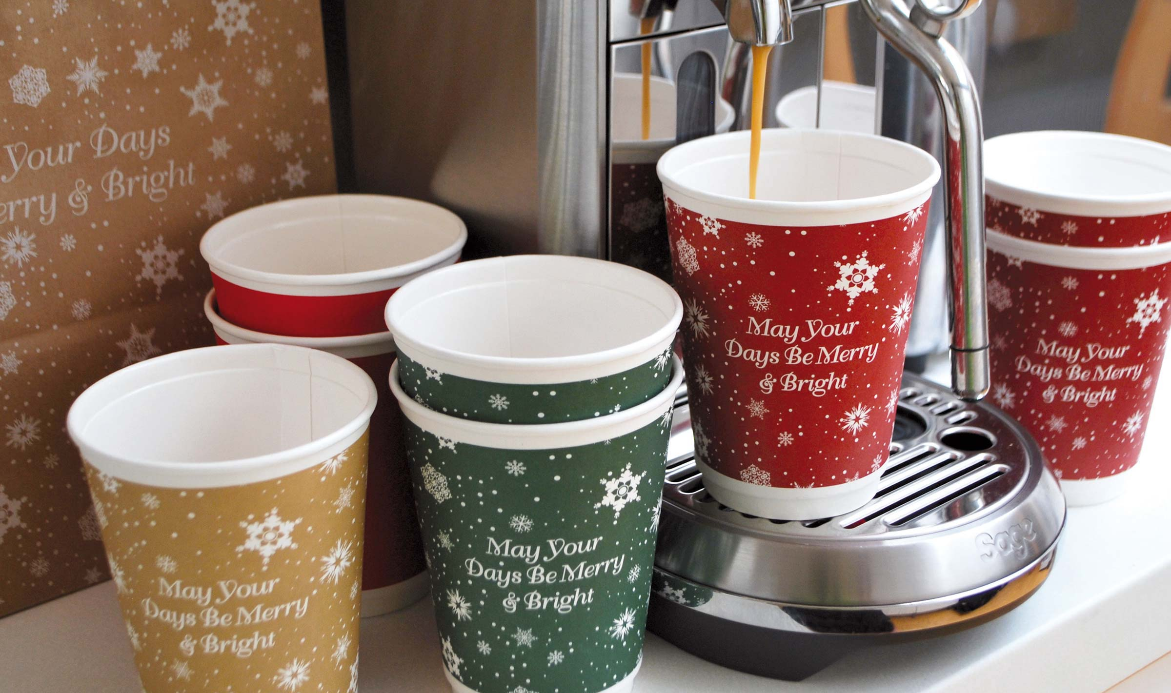 Café Connections Christmas cups