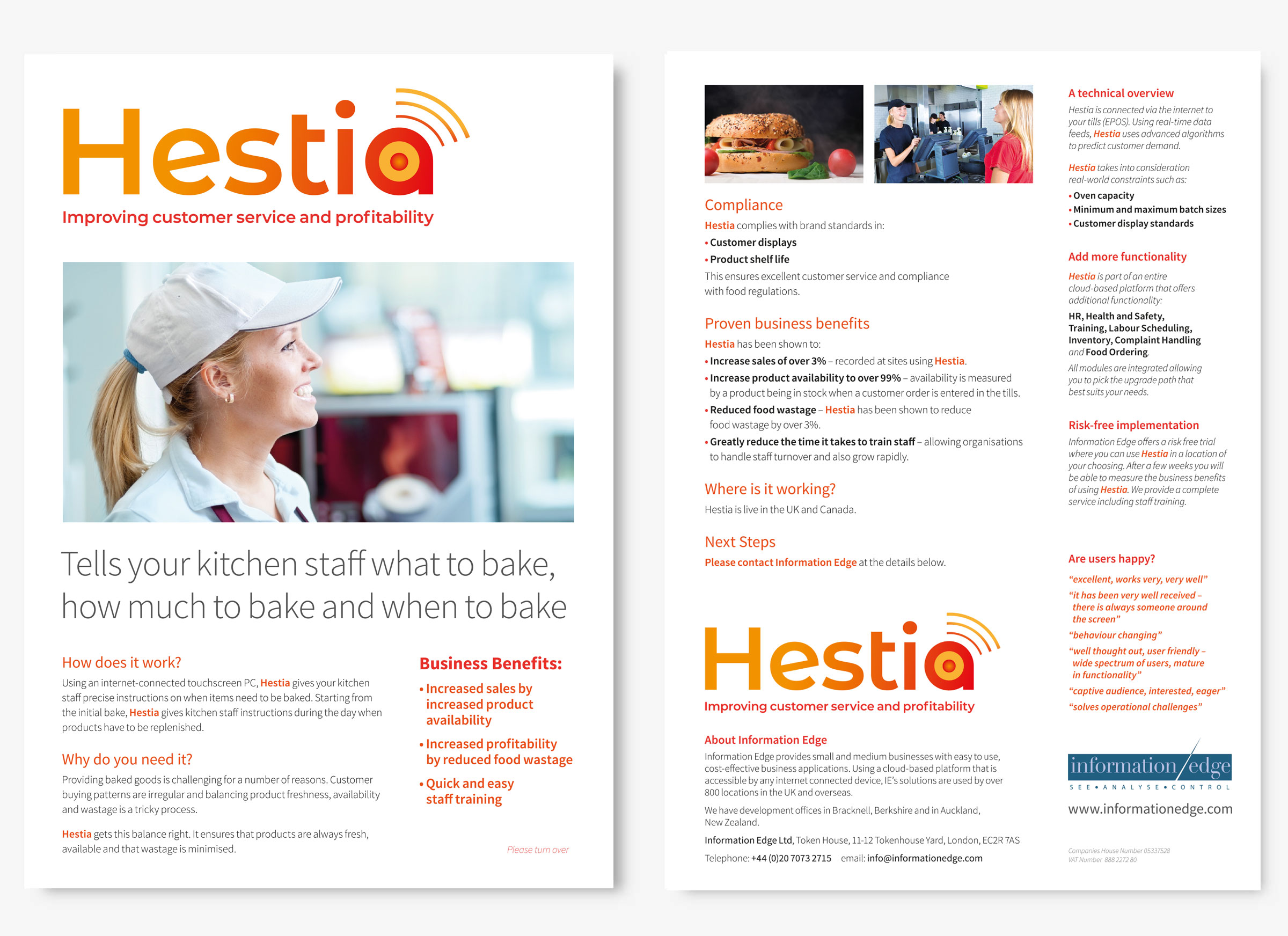 Information Edge Hestia brochure