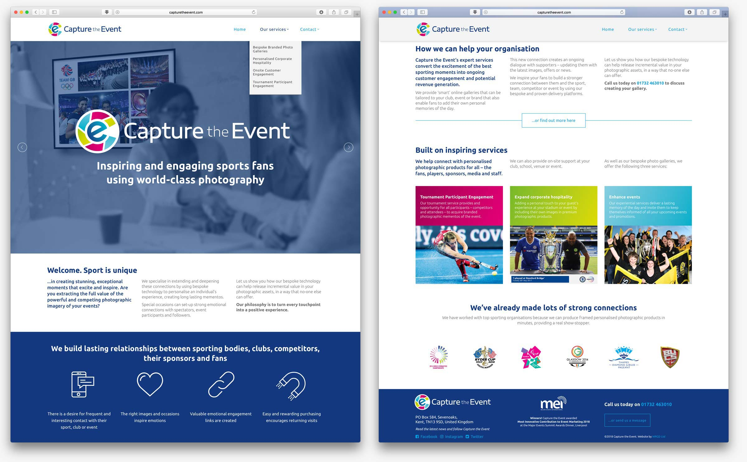 Capture the Event website