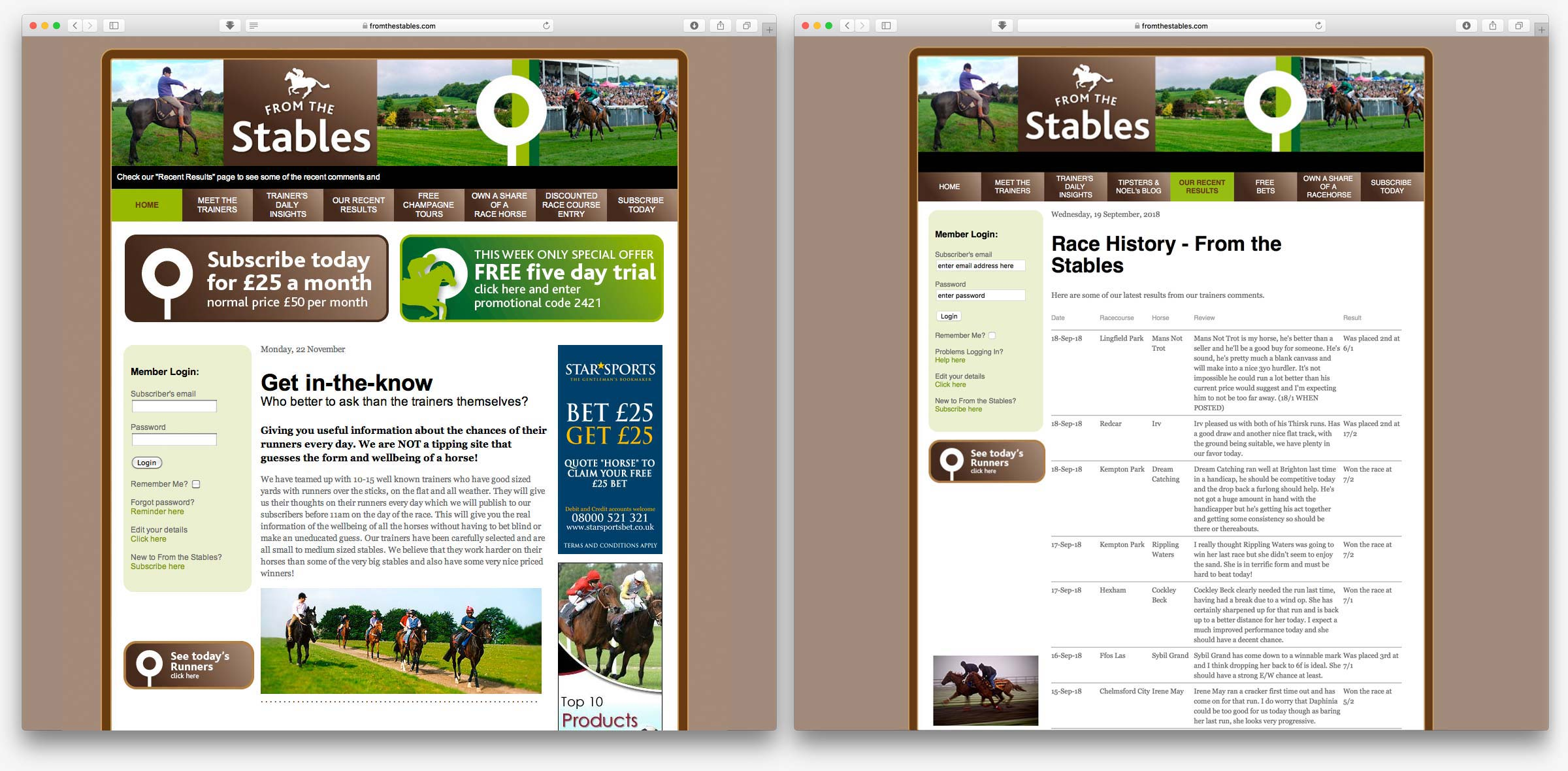 From the Stables website