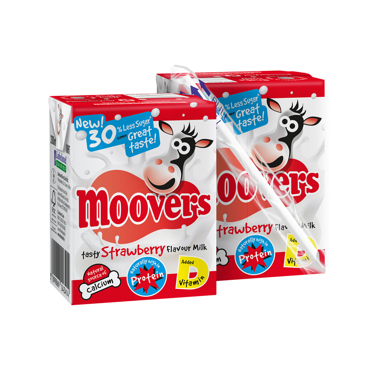 Moovers reduced sugar flavoured milk